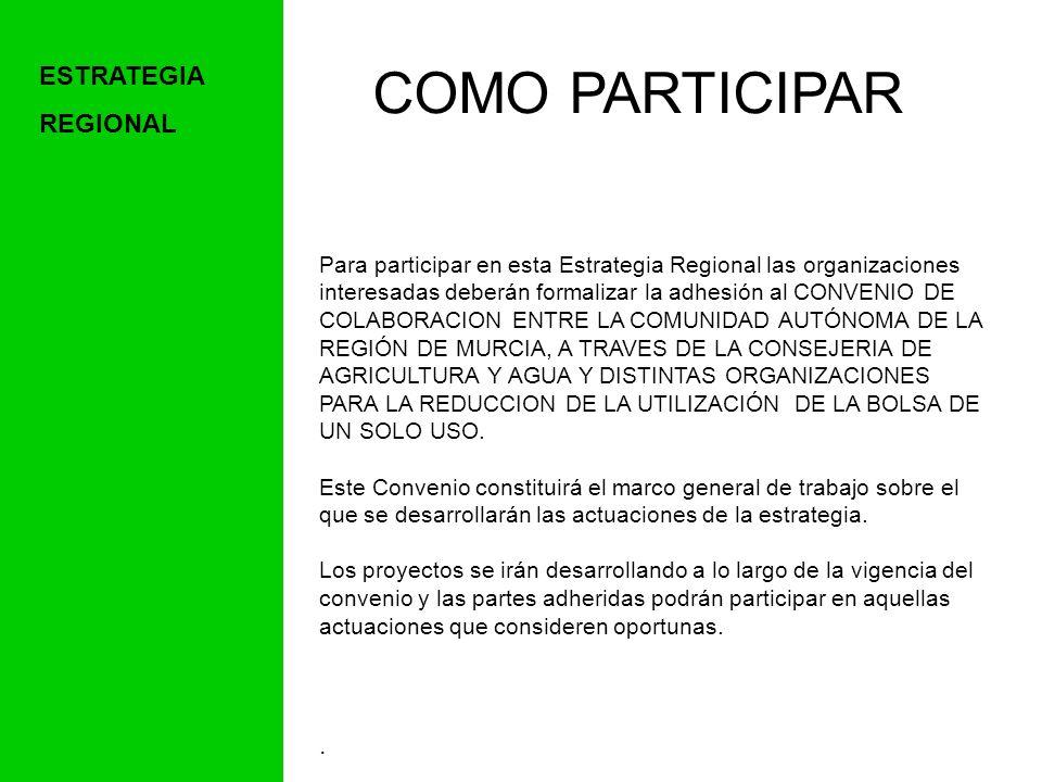 COMO PARTICIPAR ESTRATEGIA REGIONAL .