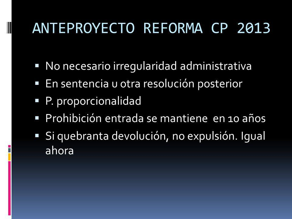 ANTEPROYECTO REFORMA CP 2013