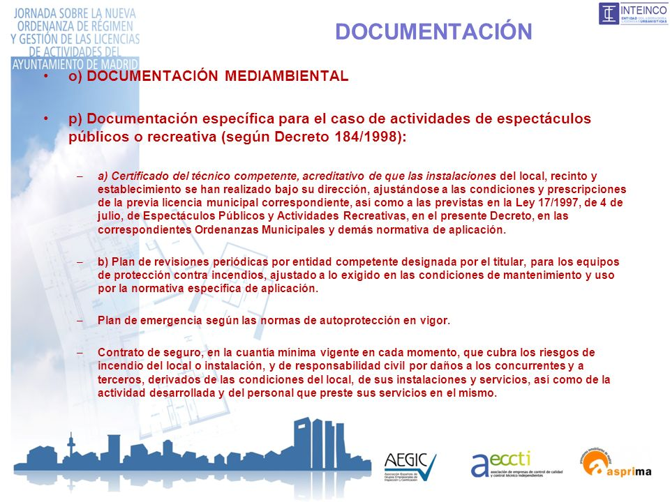 DOCUMENTACIÓN o) DOCUMENTACIÓN MEDIAMBIENTAL