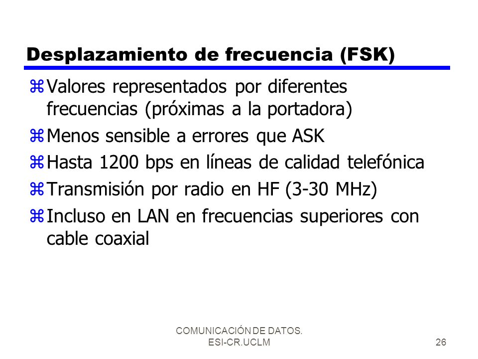Desplazamiento de frecuencia (FSK)
