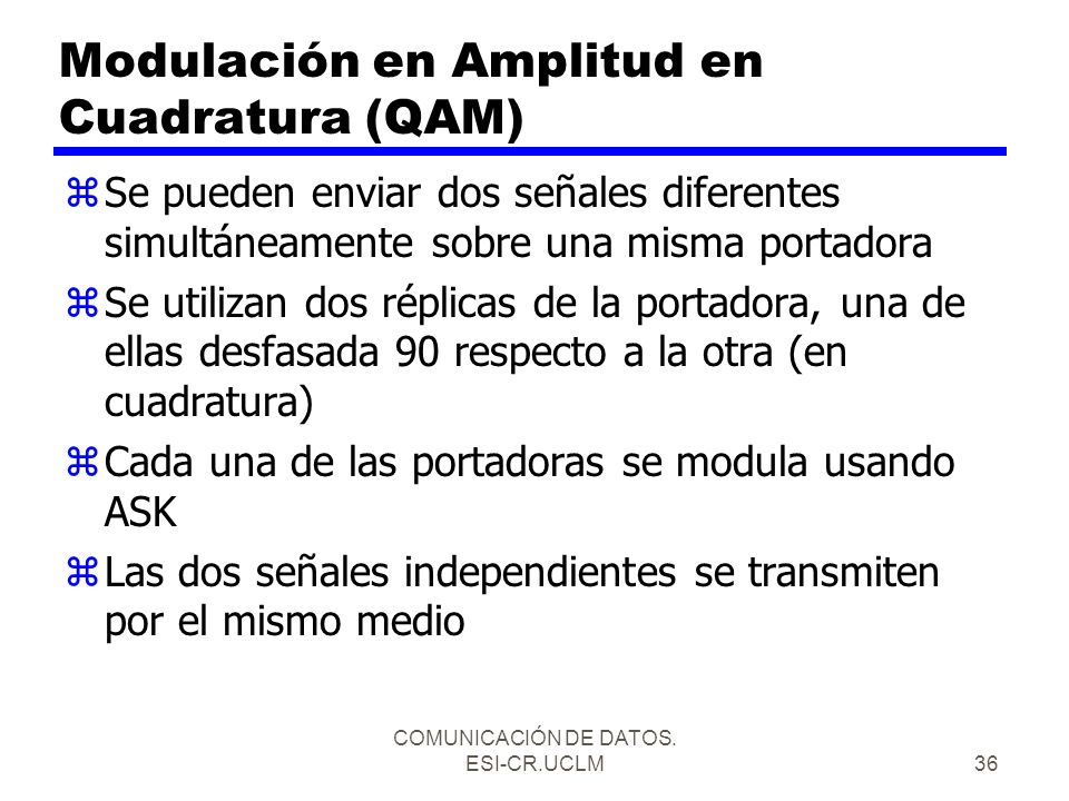 Modulación en Amplitud en Cuadratura (QAM)