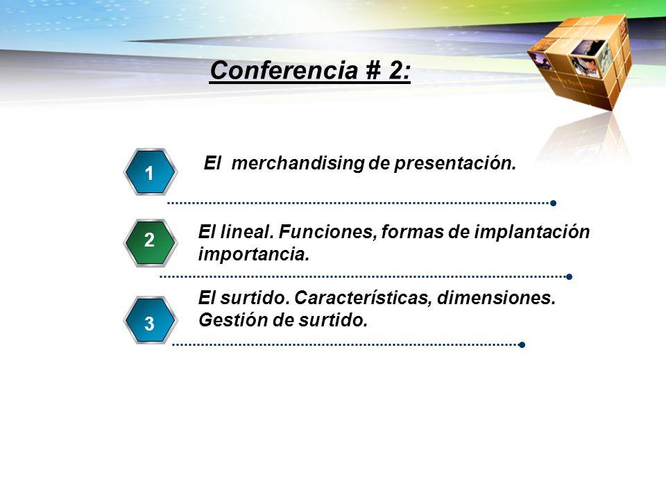 Conferencia # 2: 4 El merchandising de presentación. 1