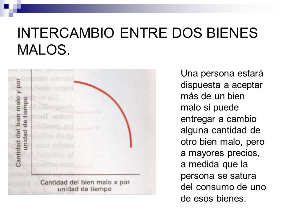 INTERCAMBIO ENTRE DOS BIENES MALOS.