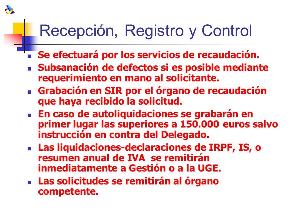 Recepción, Registro y Control