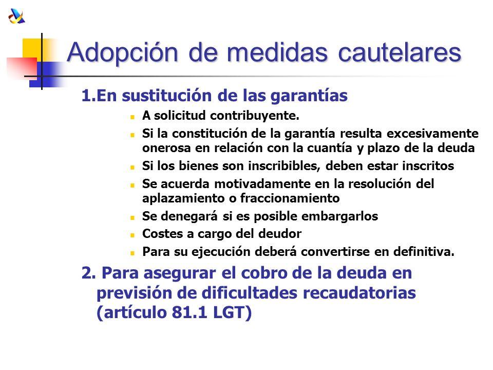 Adopción de medidas cautelares
