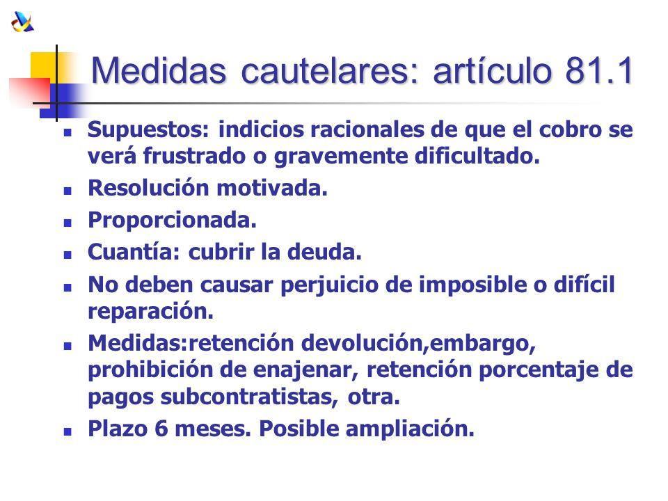 Medidas cautelares: artículo 81.1