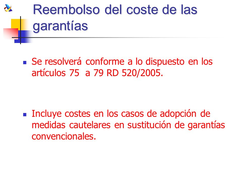 Reembolso del coste de las garantías