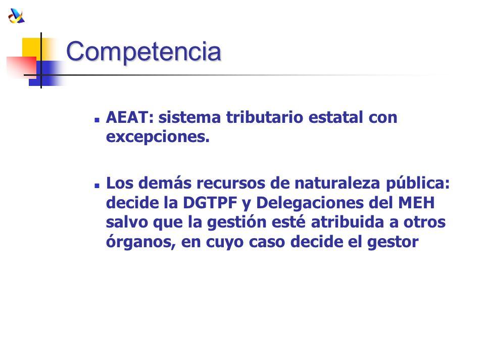 Competencia AEAT: sistema tributario estatal con excepciones.