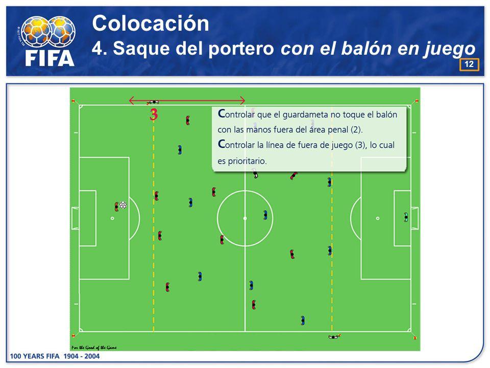 Colocación 4. Saque del portero con el balón en juego