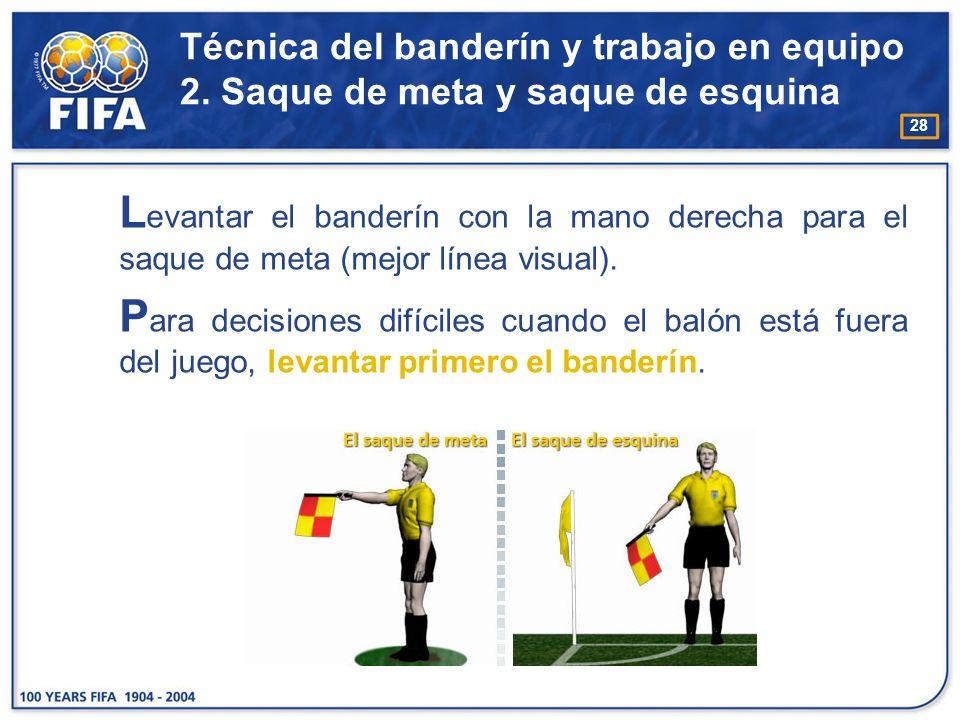 Técnica del banderín y trabajo en equipo 2