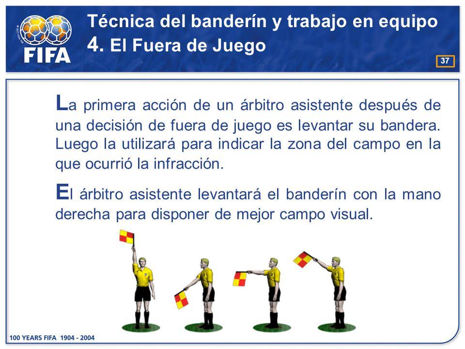 Técnica del banderín y trabajo en equipo 4. El Fuera de Juego