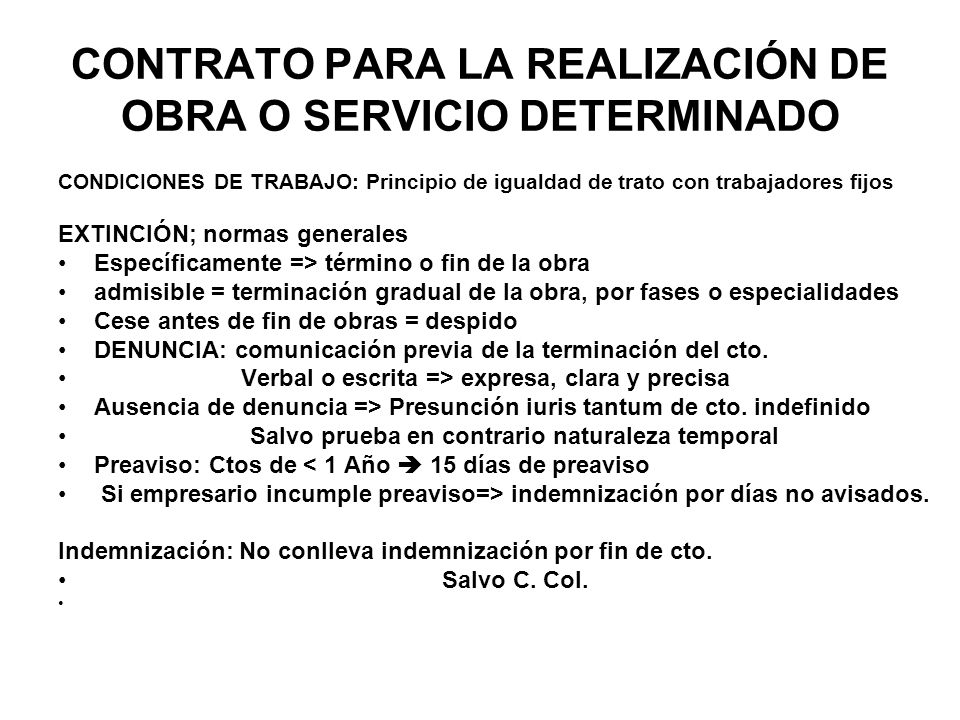 Modalidades Y Clases De Contratos De Trabajo Ppt Descargar