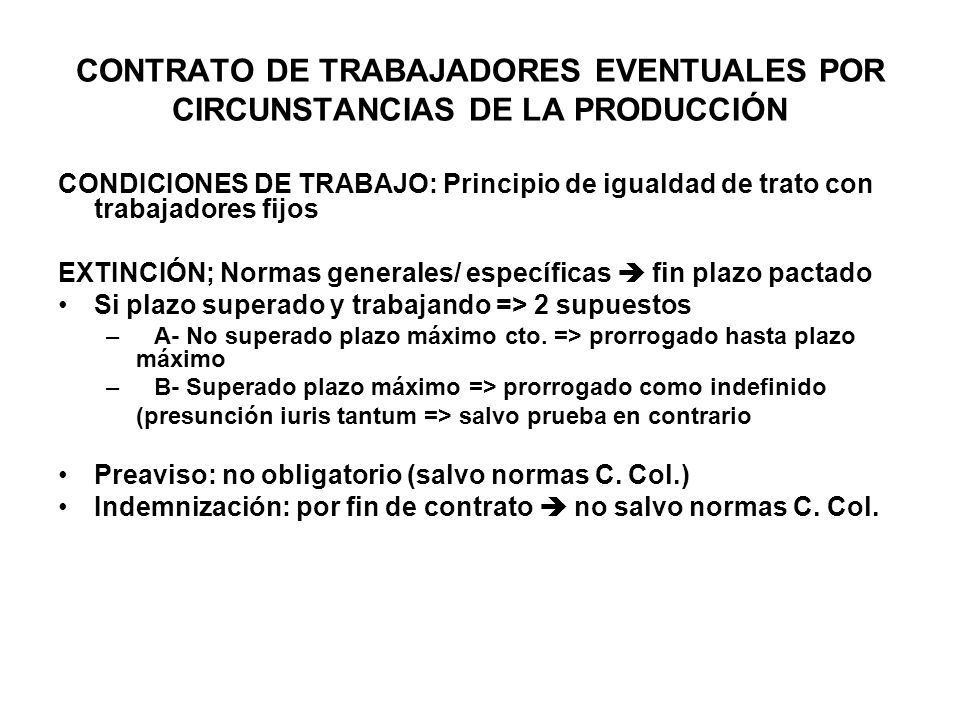 CONTRATO DE TRABAJADORES EVENTUALES POR CIRCUNSTANCIAS DE LA PRODUCCIÓN