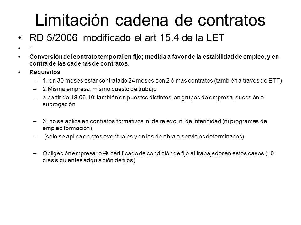 Limitación cadena de contratos