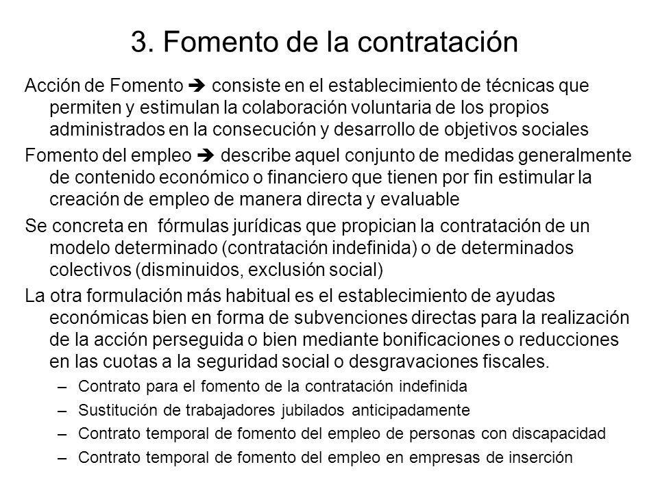 3. Fomento de la contratación