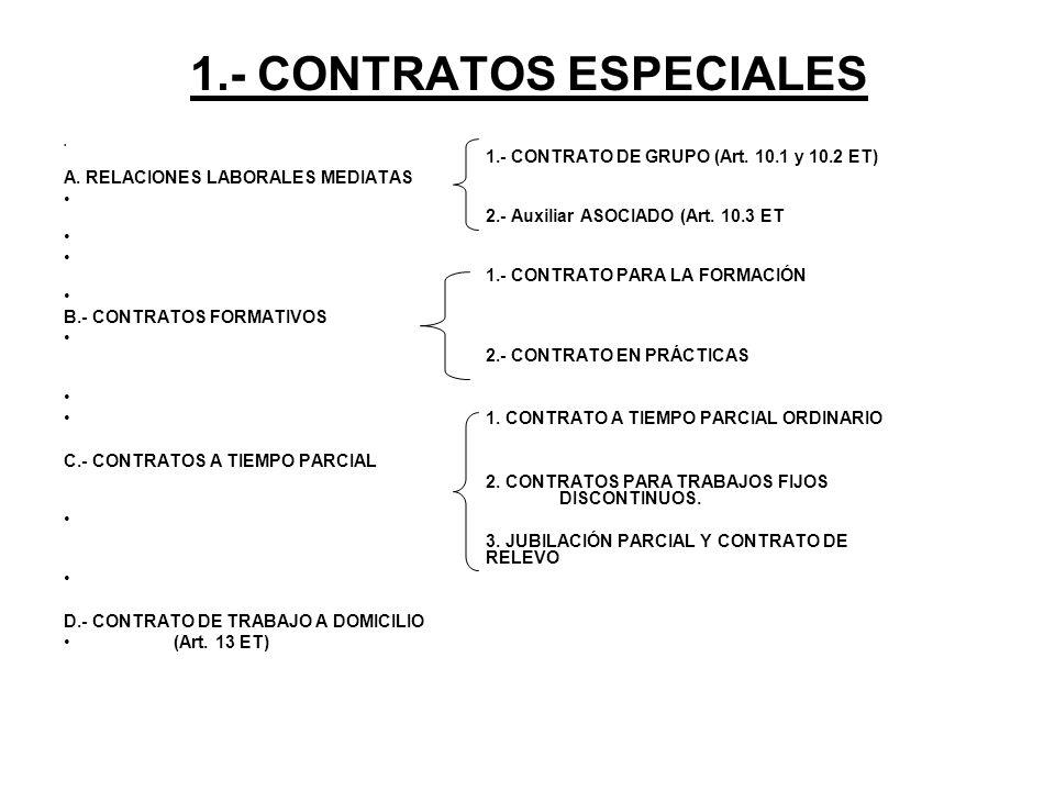 1.- CONTRATOS ESPECIALES