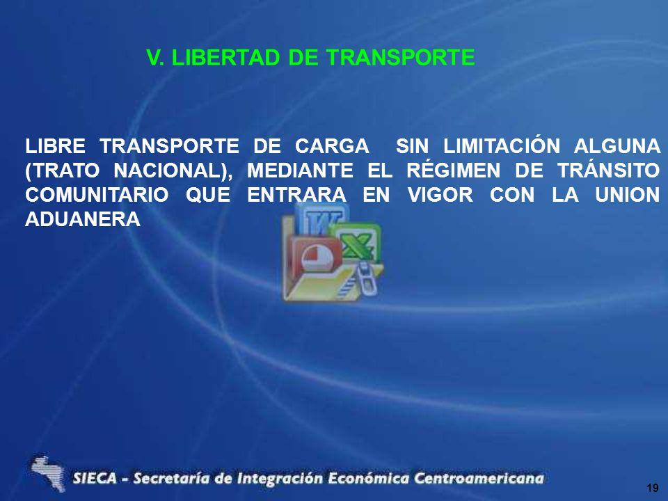 V. LIBERTAD DE TRANSPORTE