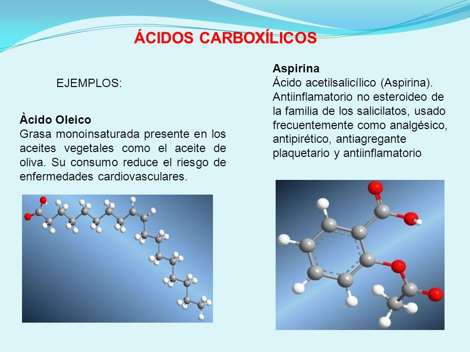 ÁCIDOS CARBOXÍLICOS Aspirina