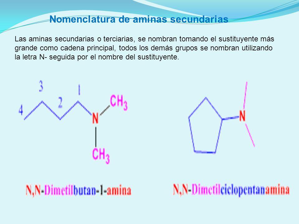 Nomenclatura de aminas secundarias
