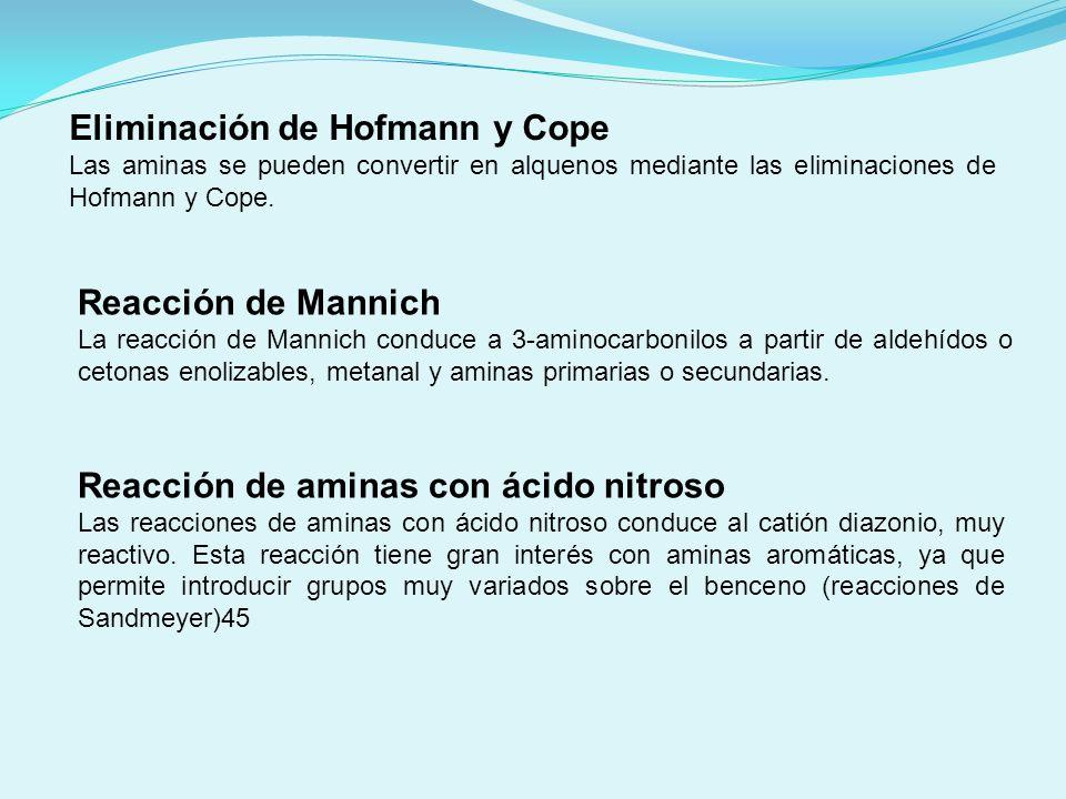 Eliminación de Hofmann y Cope