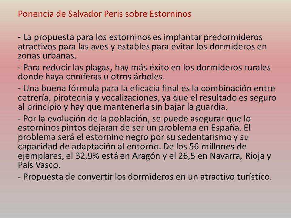 Ponencia de Salvador Peris sobre Estorninos