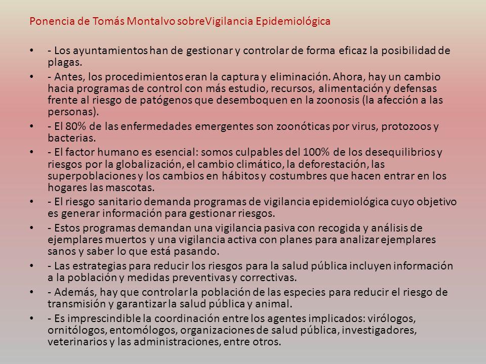 Ponencia de Tomás Montalvo sobreVigilancia Epidemiológica