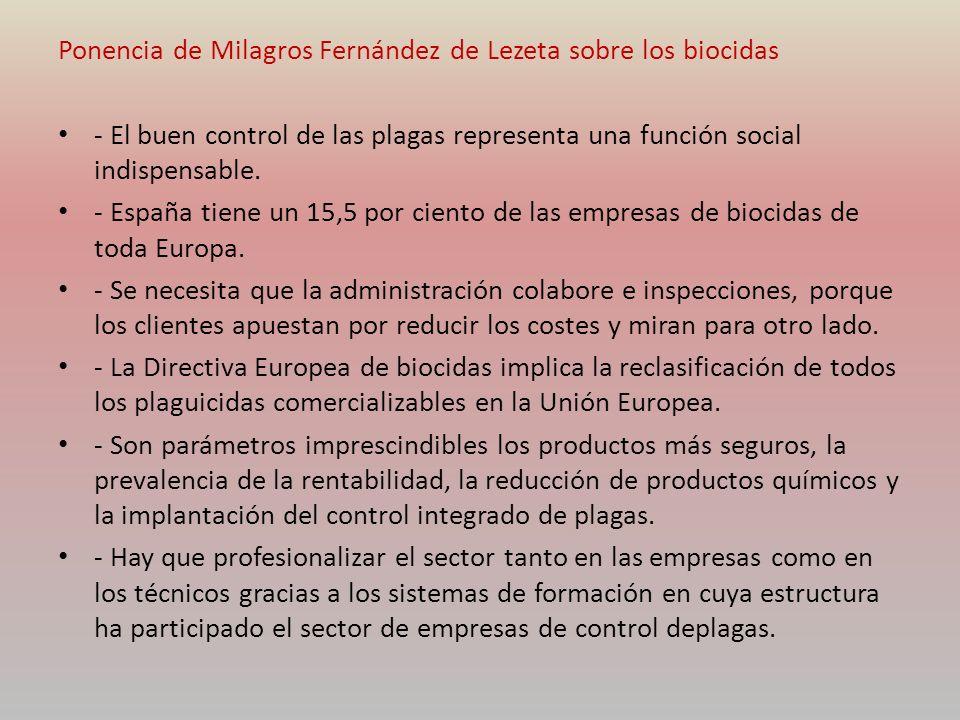 Ponencia de Milagros Fernández de Lezeta sobre los biocidas