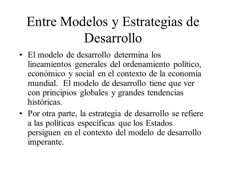 Entre Modelos y Estrategias de Desarrollo