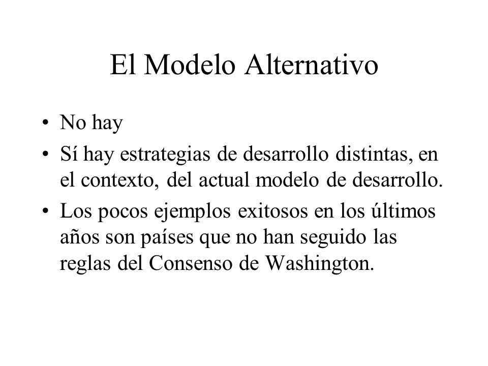 El Modelo Alternativo No hay