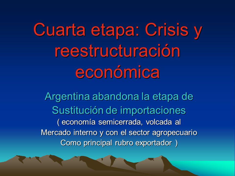 Cuarta etapa: Crisis y reestructuración económica