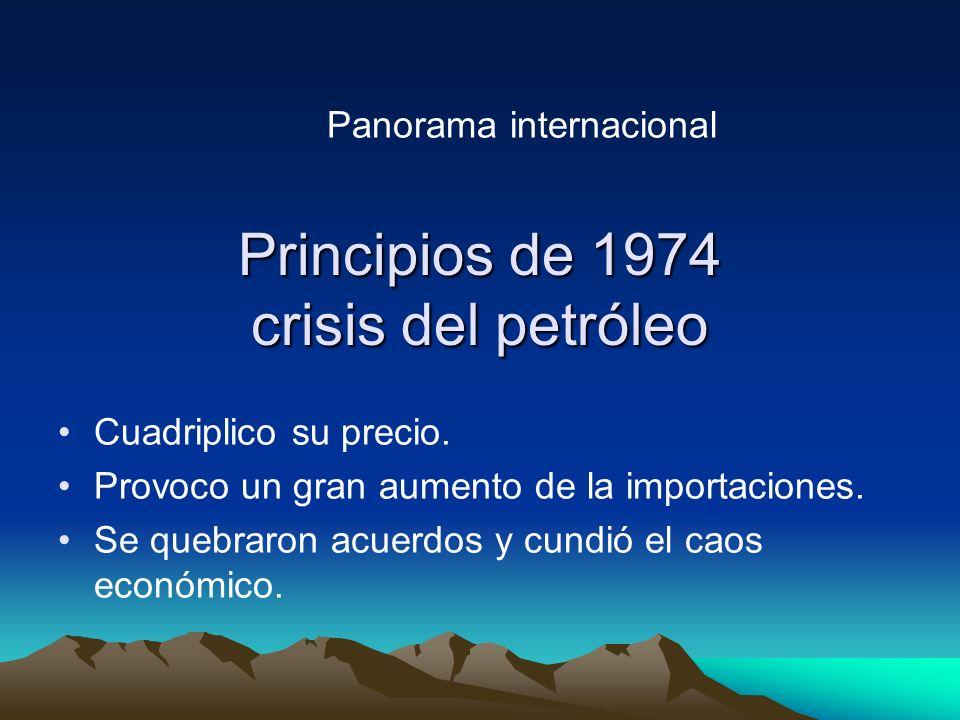 Principios de 1974 crisis del petróleo