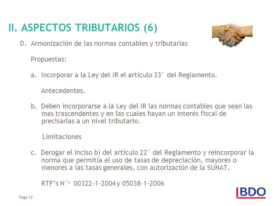 II. ASPECTOS TRIBUTARIOS (6)
