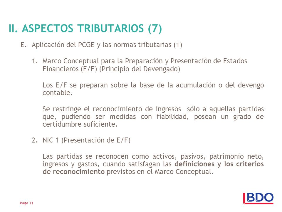 II. ASPECTOS TRIBUTARIOS (7)