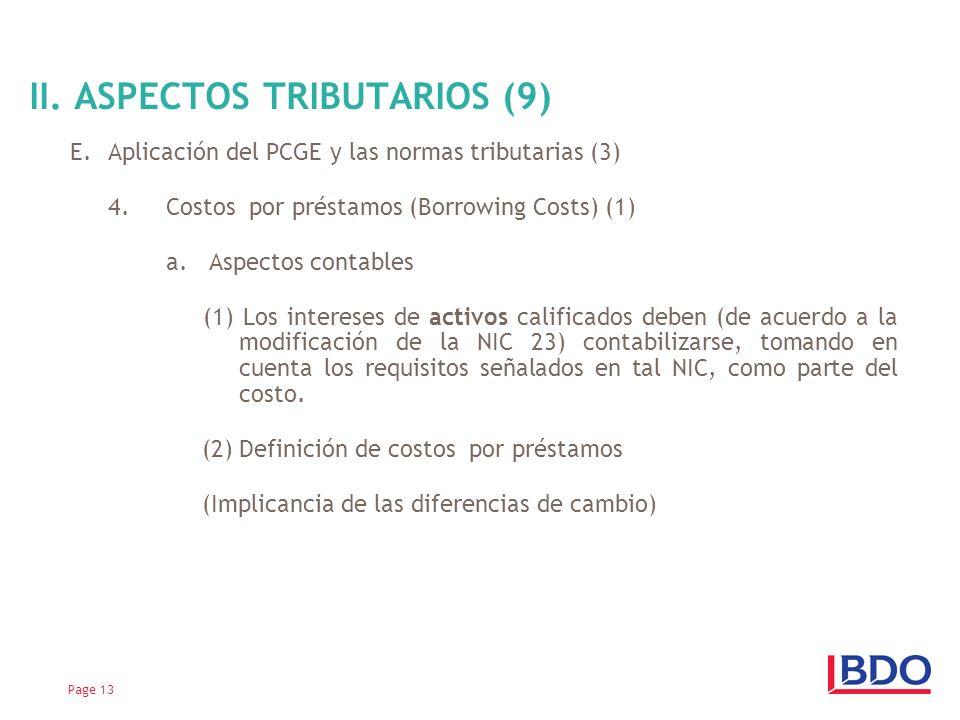 II. ASPECTOS TRIBUTARIOS (9)