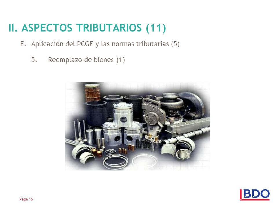 II. ASPECTOS TRIBUTARIOS (11)