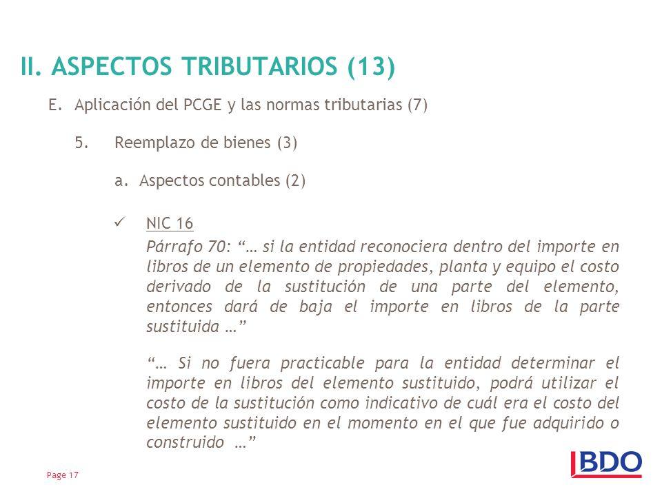 II. ASPECTOS TRIBUTARIOS (13)