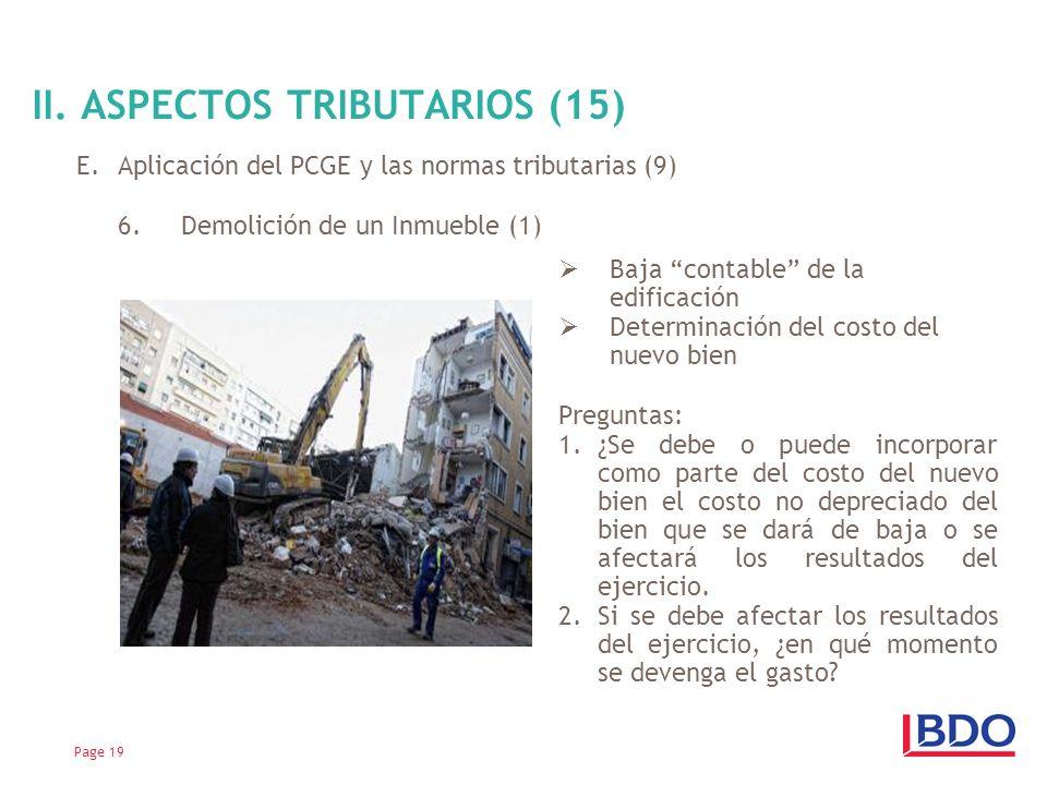 II. ASPECTOS TRIBUTARIOS (15)