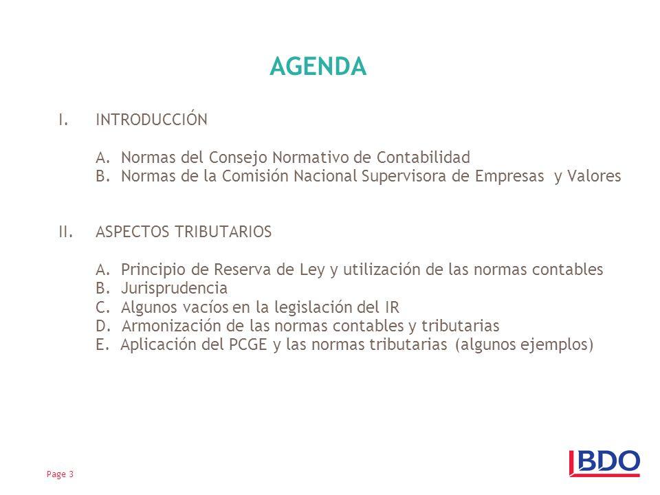 AGENDA INTRODUCCIÓN A. Normas del Consejo Normativo de Contabilidad