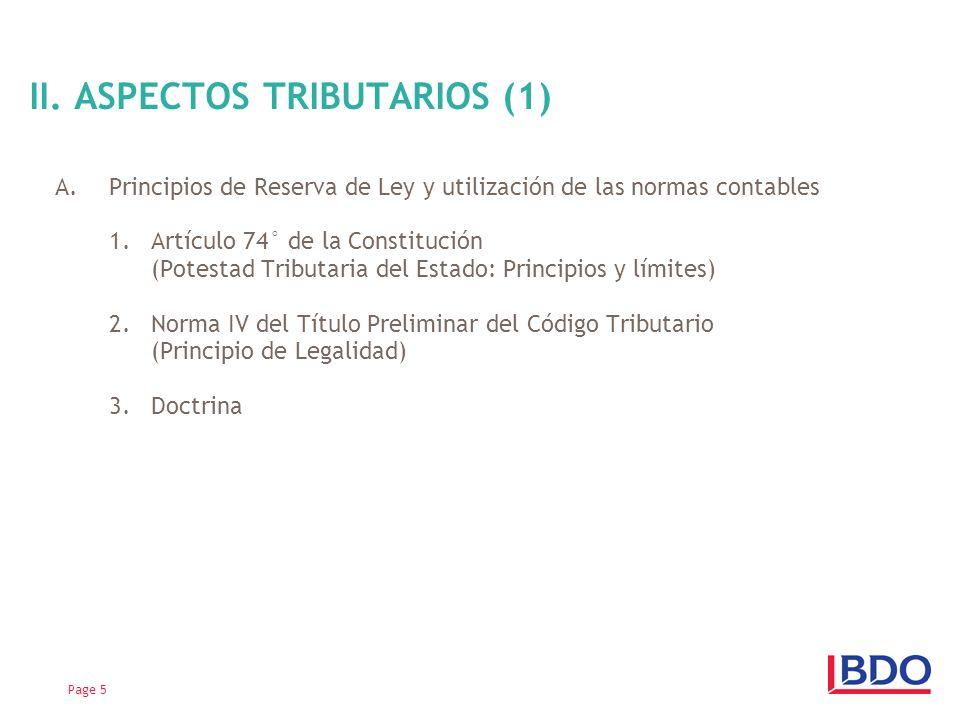 II. ASPECTOS TRIBUTARIOS (1)