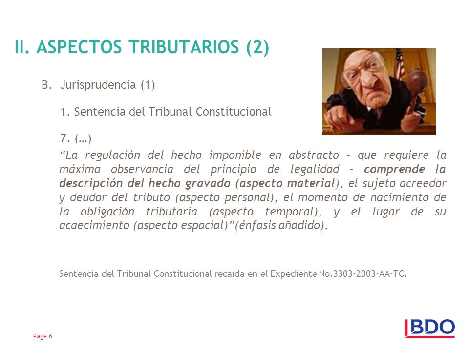 II. ASPECTOS TRIBUTARIOS (2)