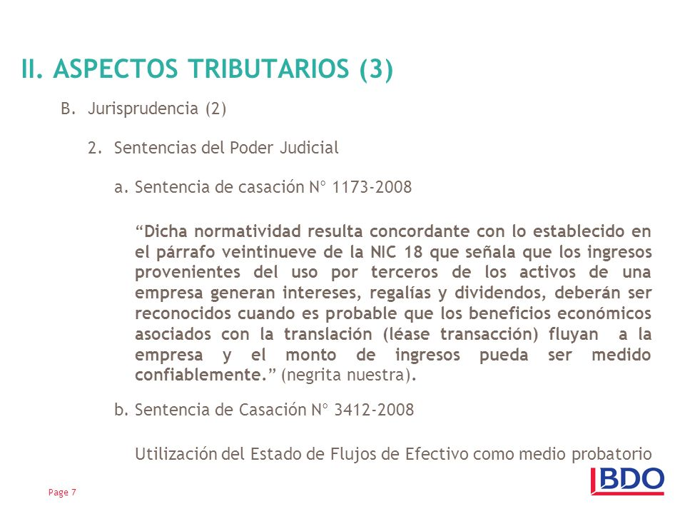 II. ASPECTOS TRIBUTARIOS (3)