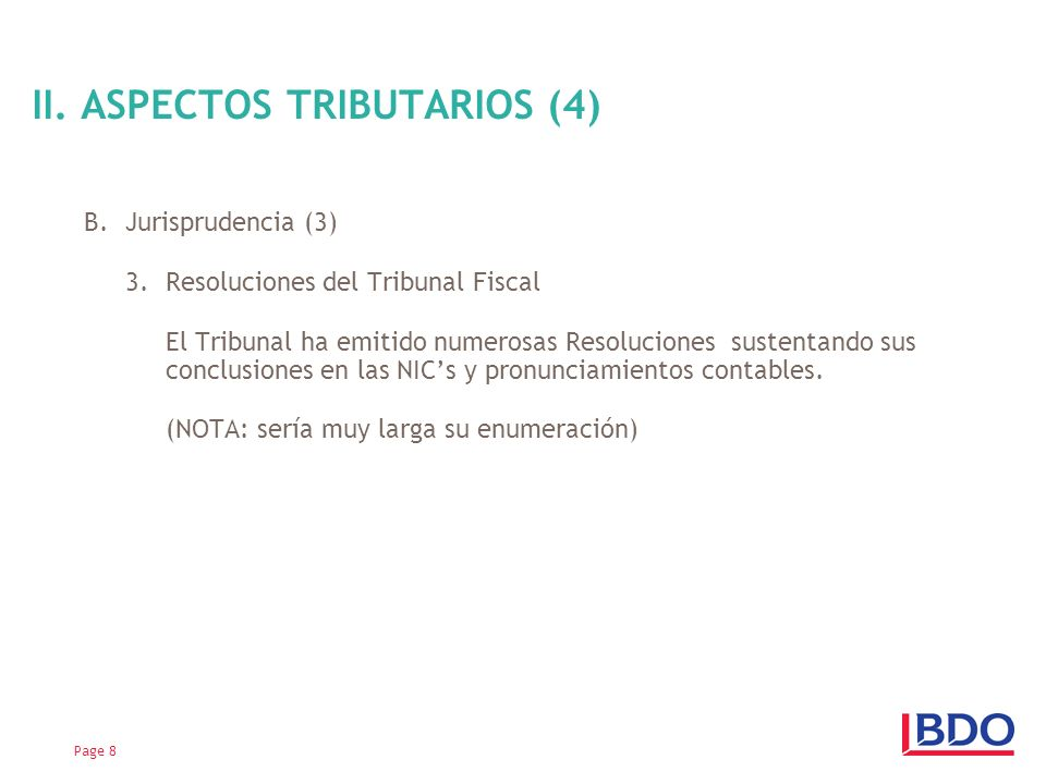 II. ASPECTOS TRIBUTARIOS (4)