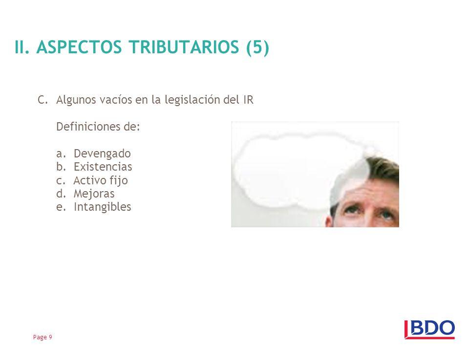 II. ASPECTOS TRIBUTARIOS (5)