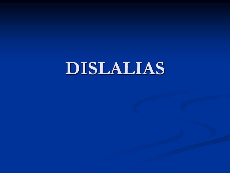 DISLALIAS