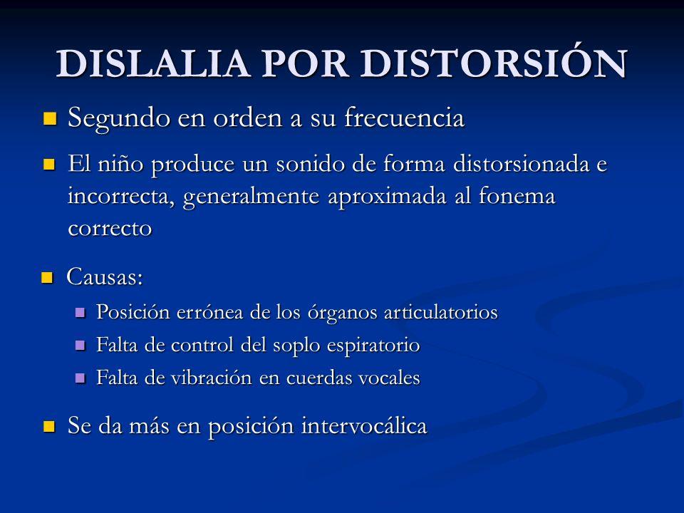 DISLALIA POR DISTORSIÓN