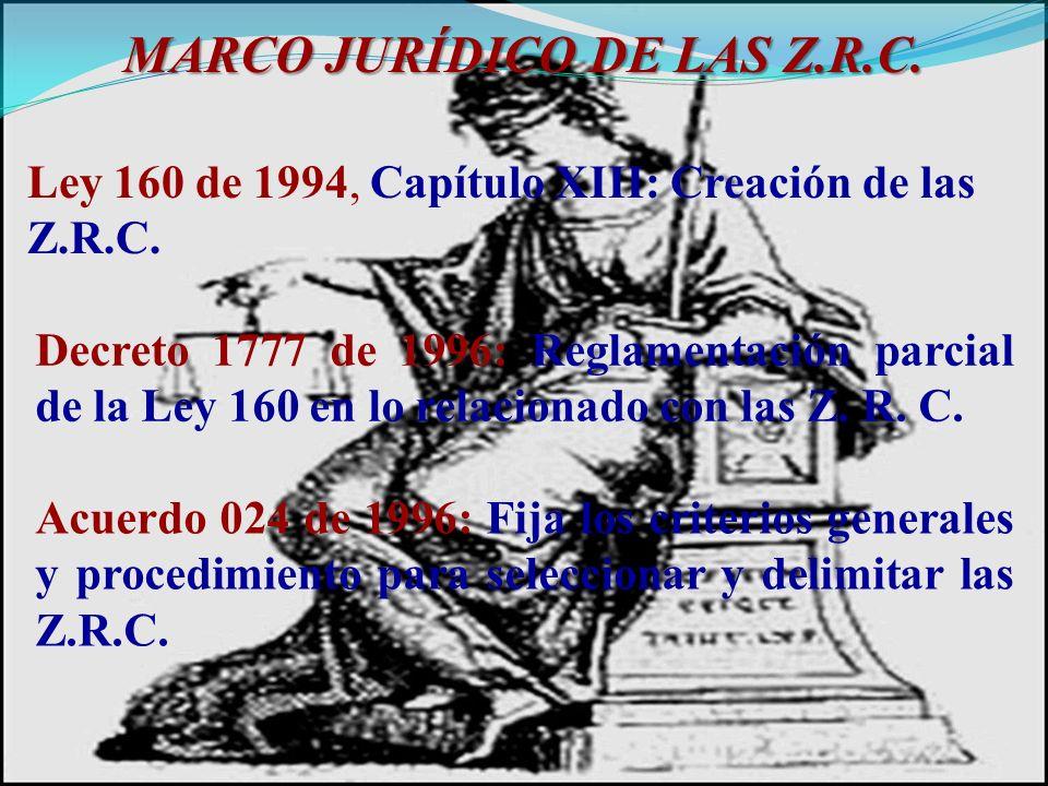MARCO JURÍDICO DE LAS Z.R.C.