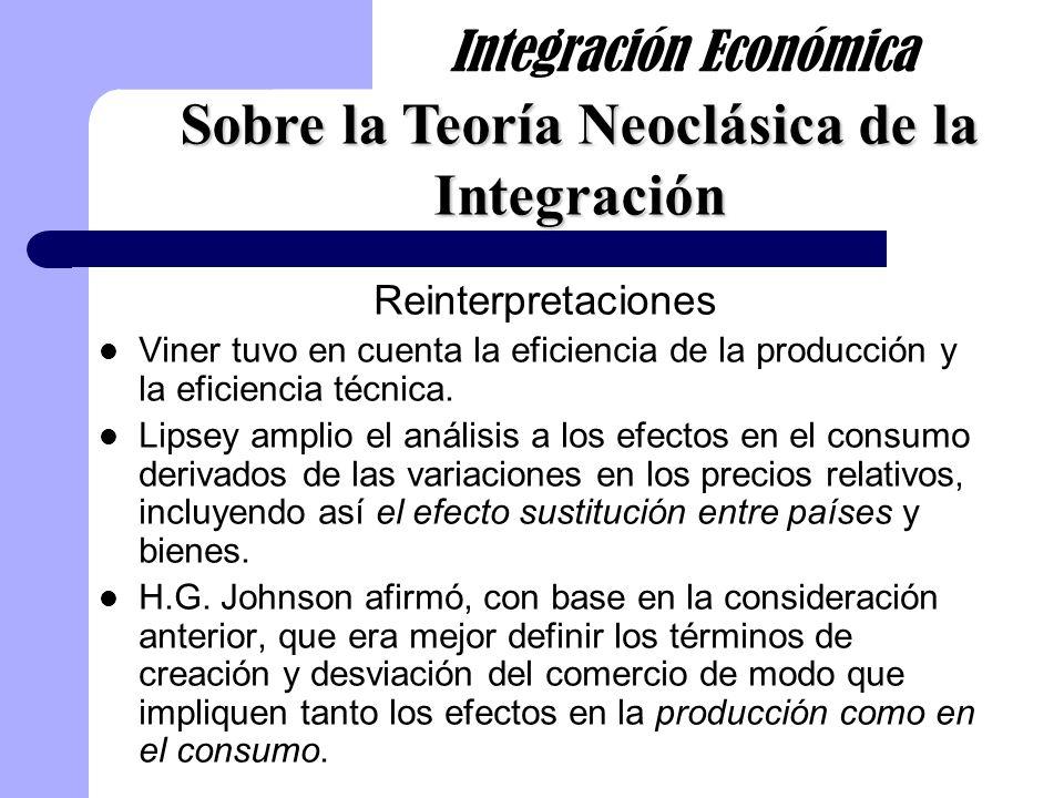 Sobre la Teoría Neoclásica de la Integración