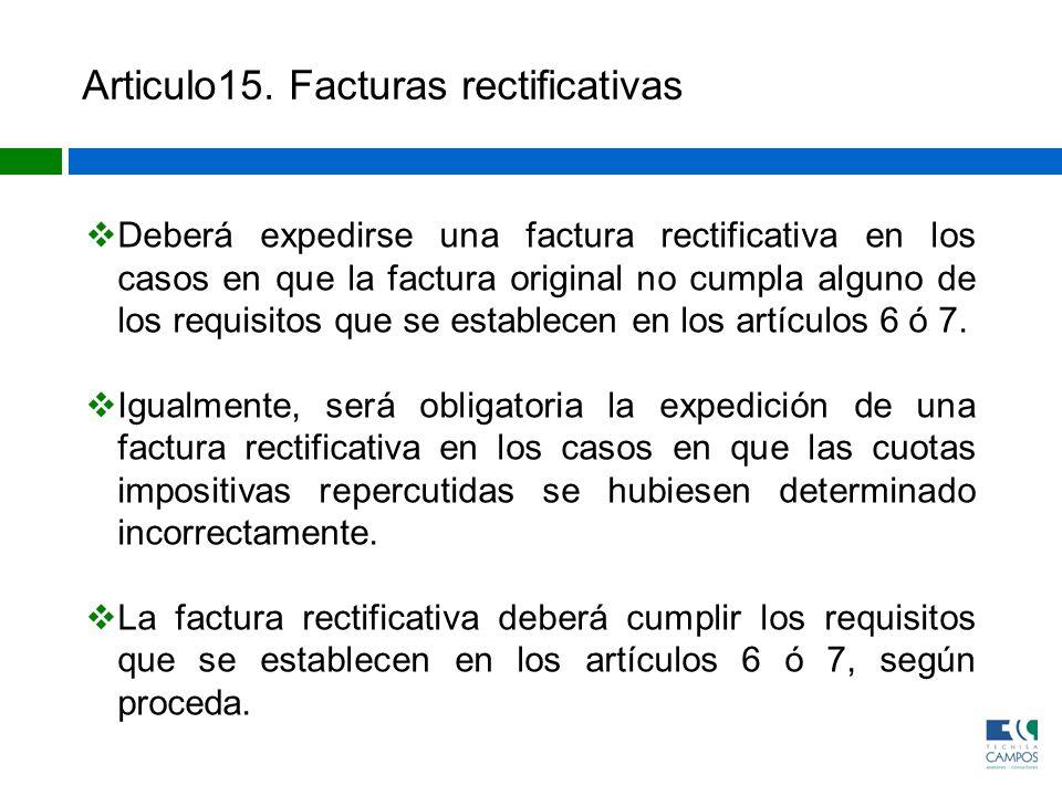Articulo15. Facturas rectificativas