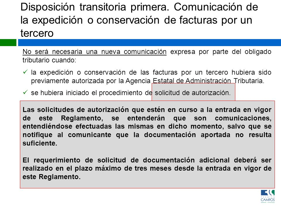Disposición transitoria primera