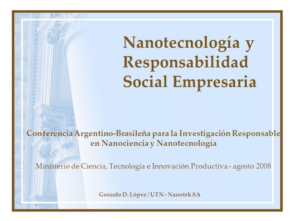 Nanotecnología y Responsabilidad Social Empresaria